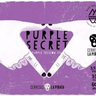 etiqueta La Pirata Purple Secret Session IPA